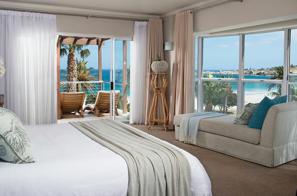 Comfortable suite with sea views.