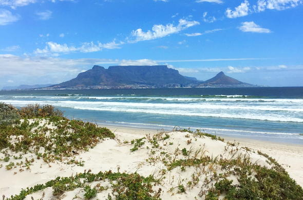 View of Table Mountain from Blouberg.