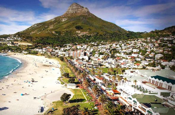 Camps Bay Beach in Cape Town.