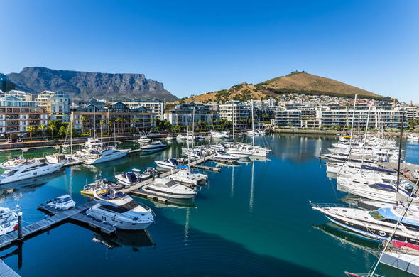 Stunning views of Table Mountain and the V&A Waterfront harbour.