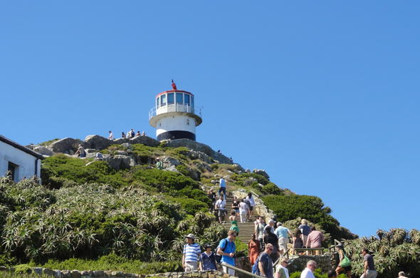 Cape Point guided tour - walking to be best observation point.