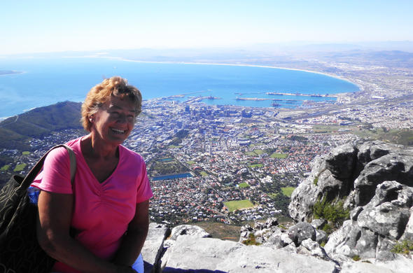 Things to do in Cape Town include visiting Table Mountain.