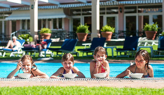 Cape Town family hotels - kids in pool.
