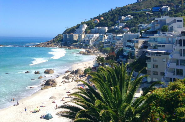 View of Clifton Beach in Cape Town.