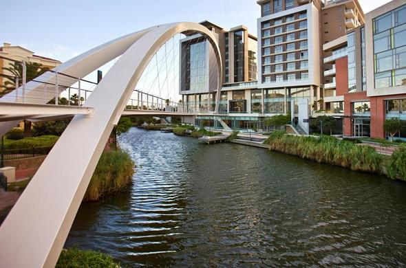 The Canals of Century City in Cape Town.