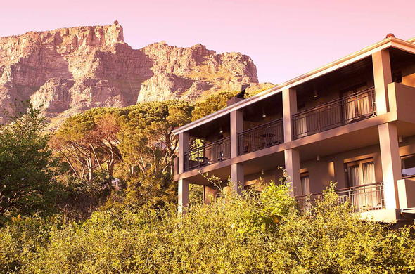View of Table Mountain from Kensingtons Place Luxury Boutique Hotel.