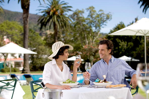 Mount Nelson is a colonial and romantic hotel in Cape Town.