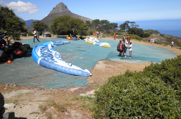 Paragliding in Cape Town.
