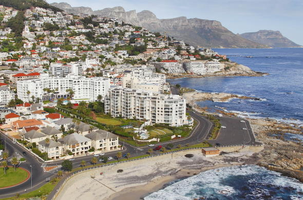 Aerial view of President Hotel in Bantry Bay.