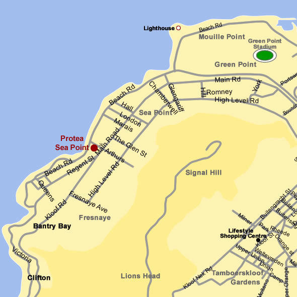 Sea Point Hotel Map