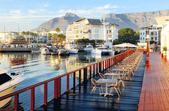 View of the Radisson Blu Hotel marina at the V&A waterfront.