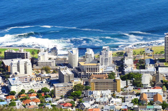 Aerial view of Sea Point.