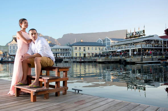 Guest exploring the nearby V&A Waterfront.
