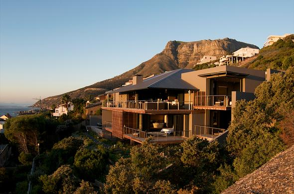 Exterior of 26 Sunset Villa in Llandudno, Cape Town.