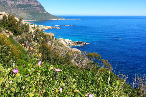 Spectacular Cape Town coast view from Victoria Road.