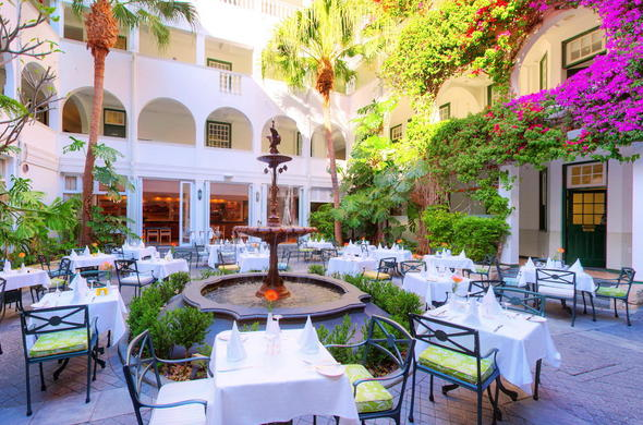 Winchester Mansions Hotel has a romantic courtyard.